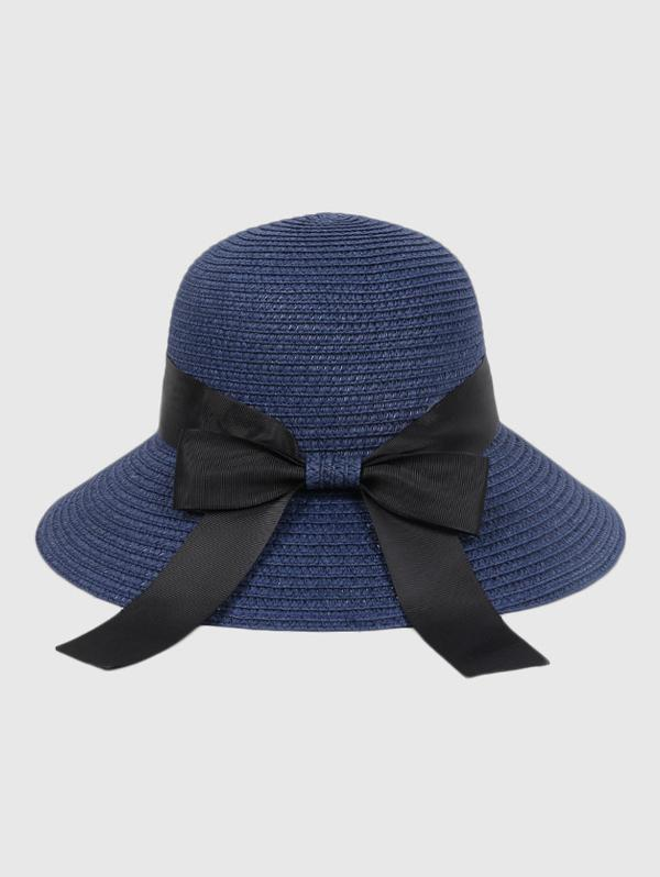Bowknot Beach Straw Sun Hat