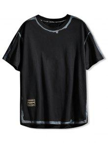Graphic Color Spliced Print T shirt