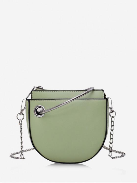 best Ring Handle Mini Chain Crossbody Bag - LIGHT GREEN