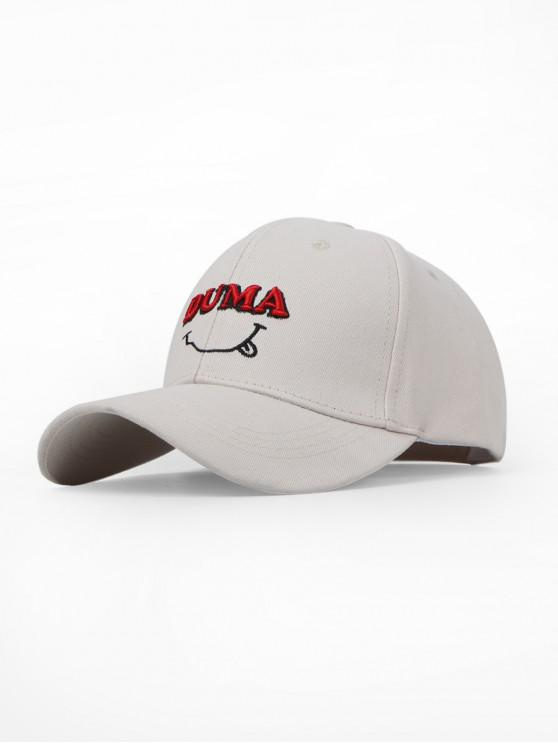 lady Letters Embroidery Cotton Baseball Cap - WHITE
