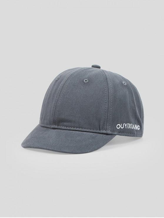 outfit Letter Pattern Elastic Baseball Cap - LIGHT SLATE GRAY