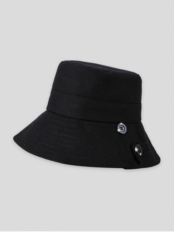 Butonul Solid Sun Bucket Hat - Negru