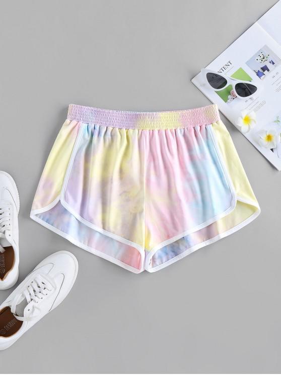 buy ZAFUL Tie Dye Dolphin Shorts - MULTI-A M