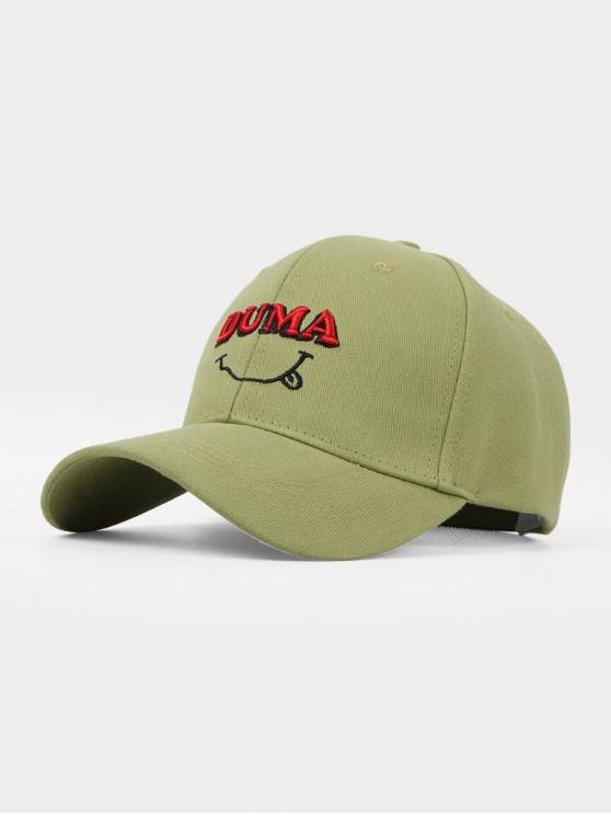 buy Letters Embroidery Cotton Baseball Cap - GREEN ONION