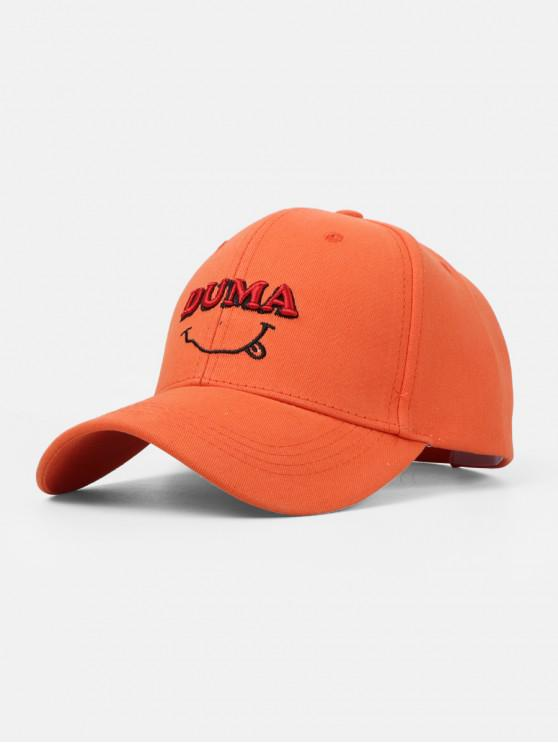 womens Letters Embroidery Cotton Baseball Cap - PUMPKIN ORANGE