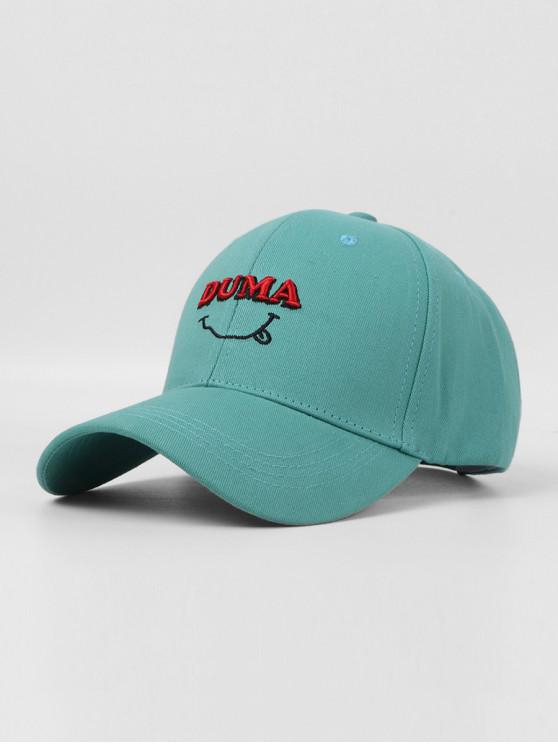 women's Letters Embroidery Cotton Baseball Cap - MACAW BLUE GREEN