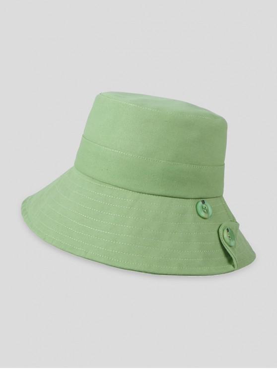 shop Button Solid Sun Bucket Hat - LIGHT GREEN