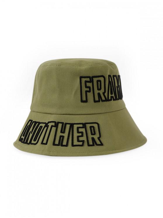 fancy Letters Embroidery Outdoor Bucket Hat - FERN GREEN
