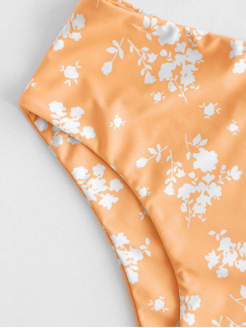 ZAFUL Ditsydruck Schößchen Tankini Badebekleidung mit Hoher Taille - Leichter Salm S Mobile