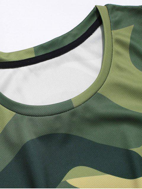 Regata Camo Impresso Camo - Verde de Camuflagem 3XL Mobile