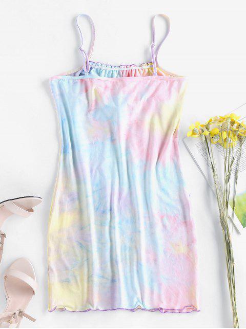 ZAFUL Bodycon Krawattenfärben Kleid - Multi-A M Mobile