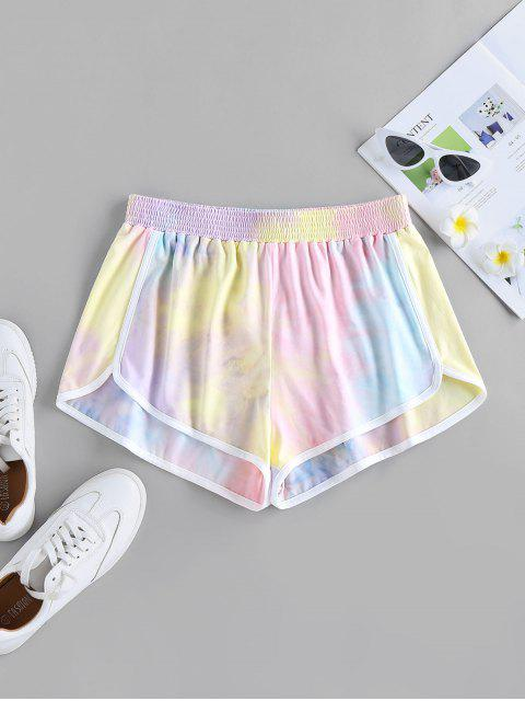shops ZAFUL Tie Dye Dolphin Shorts - MULTI-A S Mobile