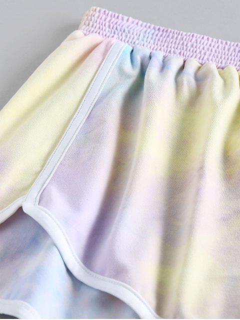womens ZAFUL Tie Dye Dolphin Shorts - MULTI-A XL Mobile