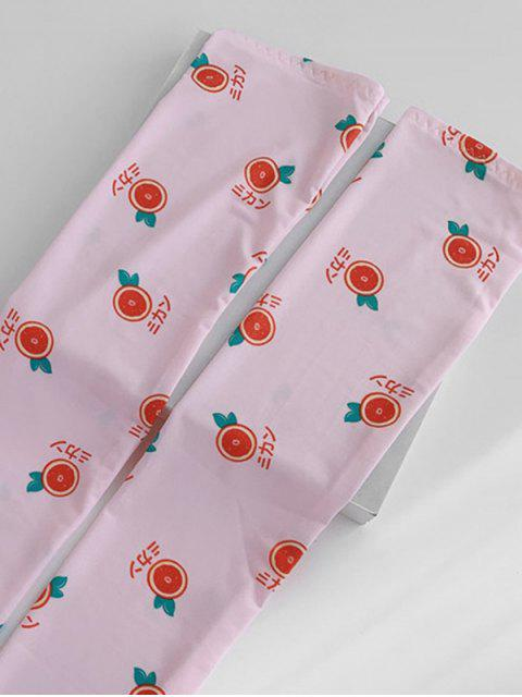 new Print Orange Arm Sleeves Gloves - PINK  Mobile