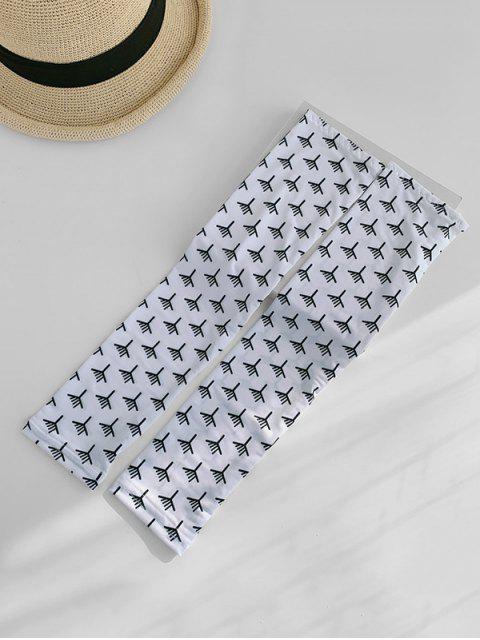 Guantes de Invierno con Estampado de Agujero de Dedo - Blanco  Mobile