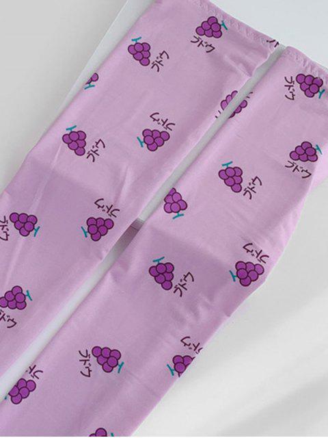 Luvas Tricotadas Torcidas De Fruta Sem Dedos - Tyrian Roxo  Mobile