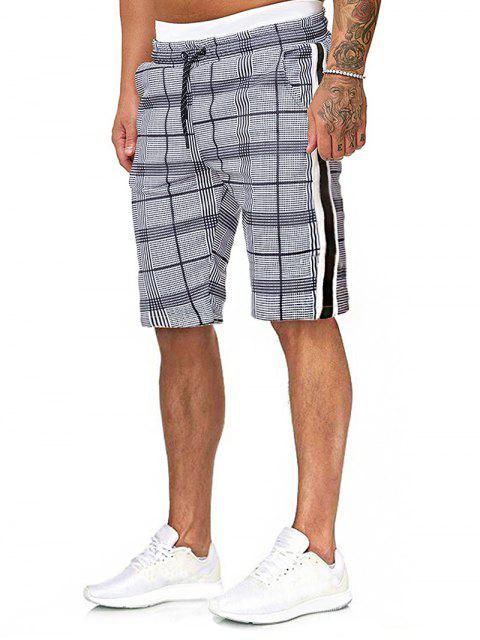 latest Plaid Drawstring Shorts with Ribbons - MULTI M Mobile