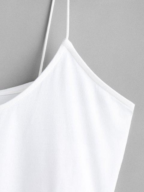 ZAFUL Haut Court à Bretelle Fraise Imprimée - Blanc L Mobile