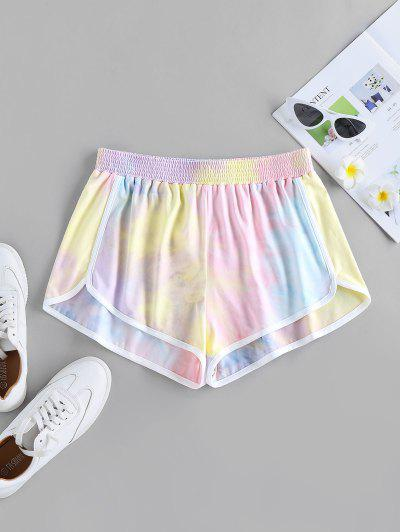 ZAFUL Tie Dye Dolphin Shorts - Multi-a S