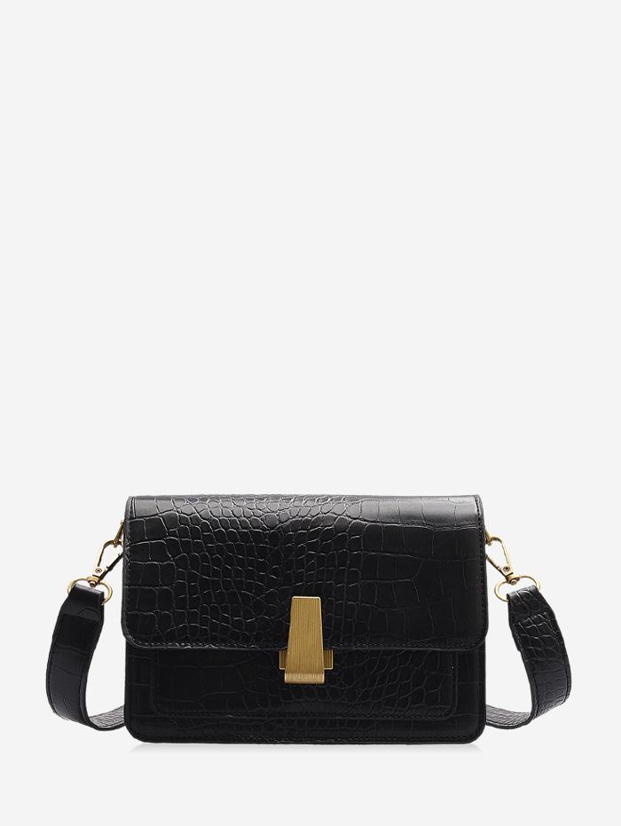 Animal Embossed Flap Mini Crossbody Bag