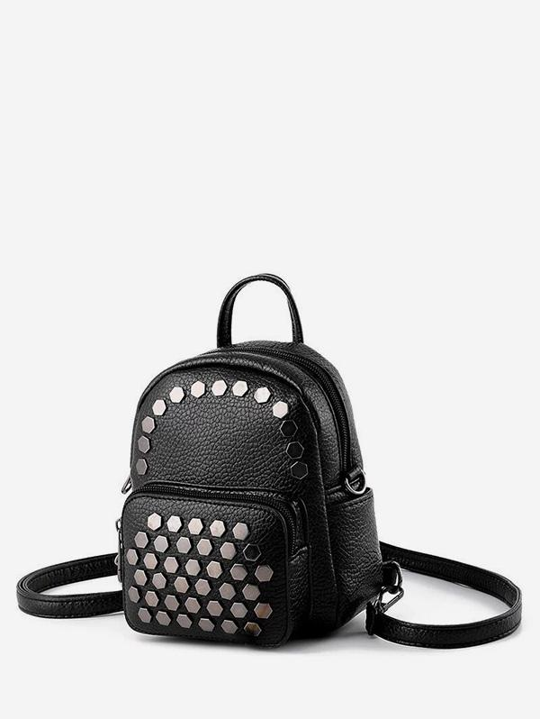 Geo Studded Mini Leather Backpack