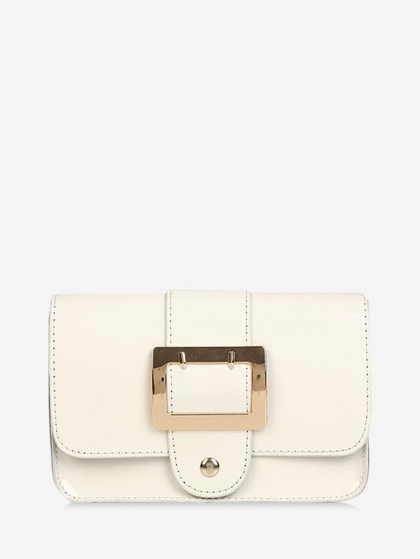 Square Buckled Flap Chain Crossbody Bag