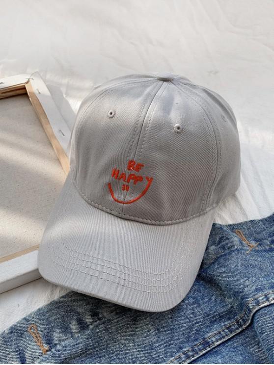 shop Embroidery Smile Letter Baseball Cap - DARK GRAY