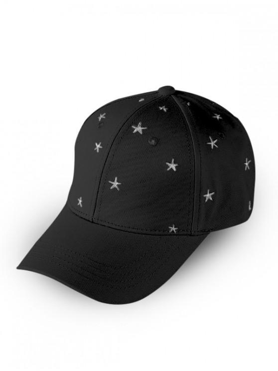 Steaua Brodate Baseball Cap - Negru