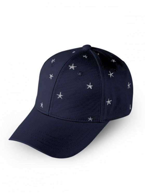 Steaua Brodate Baseball Cap - Cadetblue