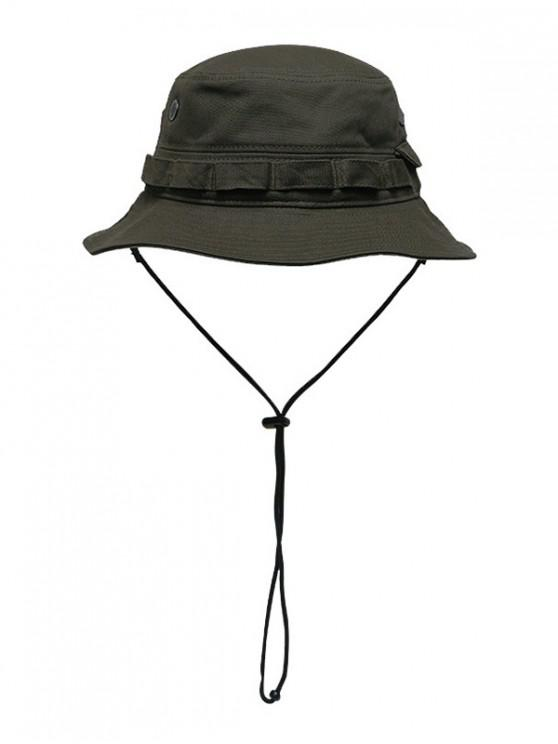 fancy Solid Color Design Foldable Bucket Hat - CAMOUFLAGE GREEN