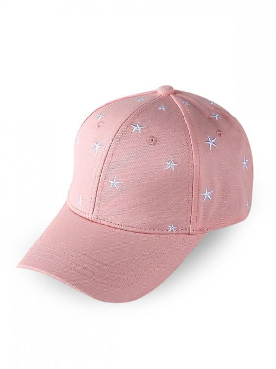 trendy Star Embroidered Baseball Cap - PINK
