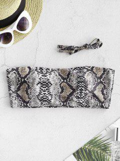 ZAFUL Haut De Bikini Bandeau Léopard Serpent Imprimé - Multi-b L