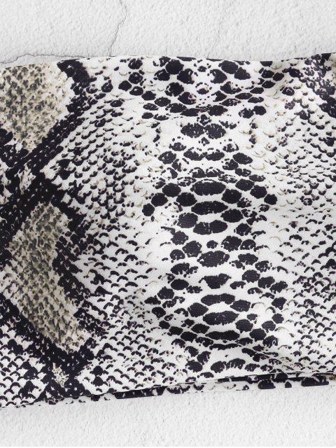 ZAFUL Haut de Bikini Bandeau Léopard Serpent Imprimé - Multi-B L Mobile