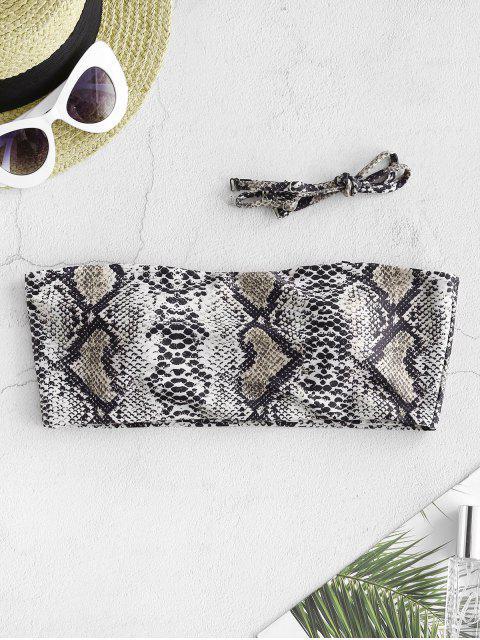 Bikini a Fascia di ZAFUL con Stampa Pelle di Serpente - Multi Colori-B S Mobile