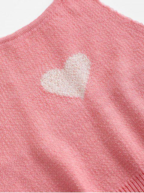 Haut Cœur Ouvert au Dos en Tricot à Col Halter - Rose Flamant Taille Unique Mobile