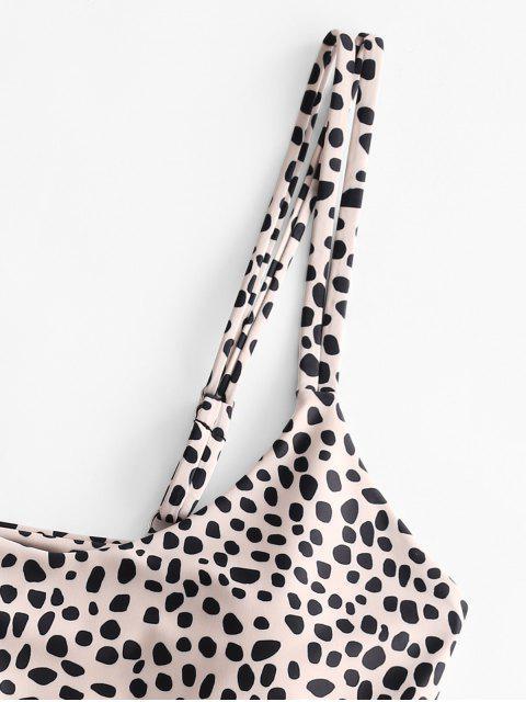 womens ZAFUL Dual Straps Leopard Bikini Swimwear - LEOPARD S Mobile