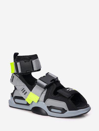 Sandalias De Deporte Alto Con Color Bloque - Gris Eu 43