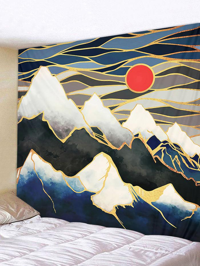 Sunset Mountain Print Wall Tapestry