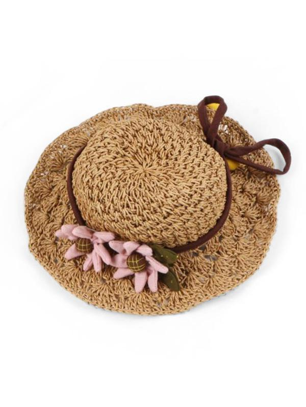 Flower Decoration Straw Hat