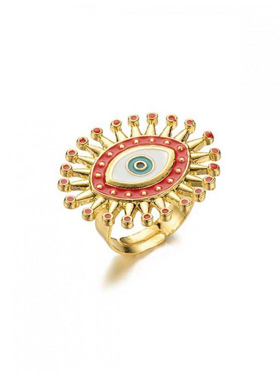 shop Eye Pattern Open Ring - MULTI-B