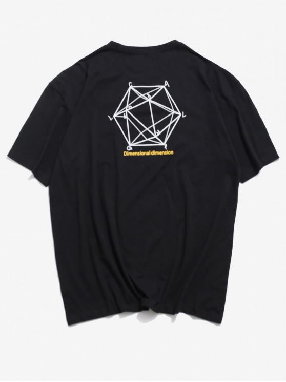 Dimensional grafic de imprimare de bază T-shirt - Negru 2XL