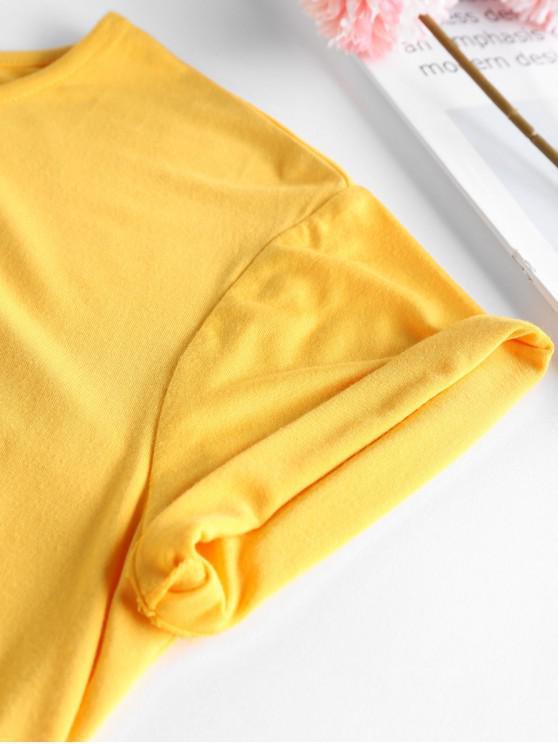 ZAFUL 90s Baby Graphic Tee - Bee Yellow S