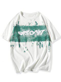 T-shirtde BasePeintureet De LettreImprimées - Blanc 3xl