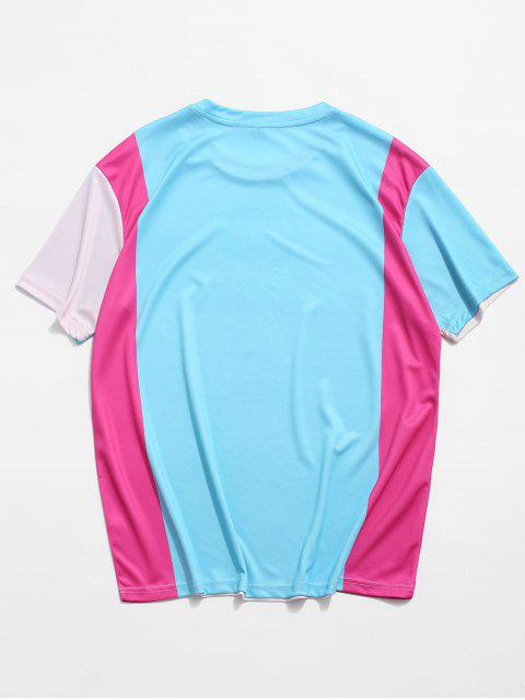 Maglietta Casuale Grafica con Maniche Corte - bianco di cream XL Mobile