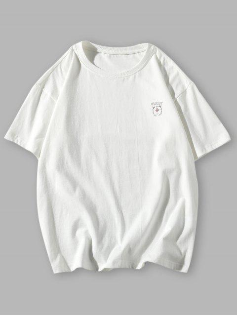 Camisa de Pignente de mangas longas de desenho animado - Branco 3XL Mobile