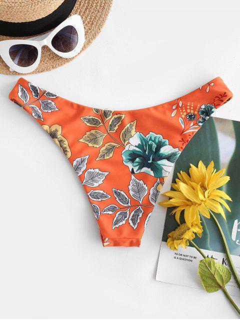 ZAFUL Bikini con Stampa Floreale a Gamba Alta - Multi Colori-A S Mobile