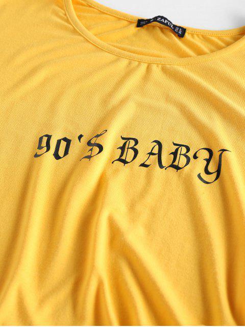 ZAFUL Hummingbird Baby Grafik T-Shirt - Biene Gelb L Mobile