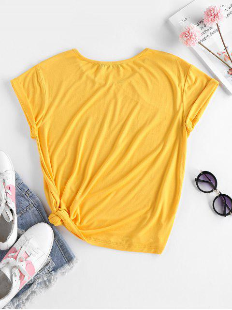 ZAFUL Hummingbird Baby Grafik T-Shirt - Biene Gelb M Mobile