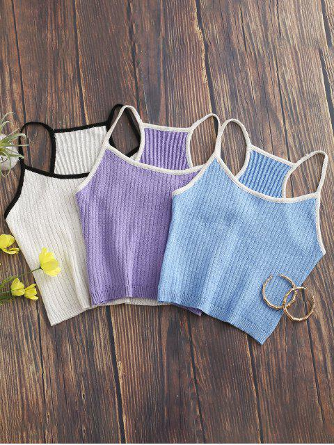 buy Knitted Racerback Ringer Cami Top - PURPLE MIMOSA ONE SIZE Mobile