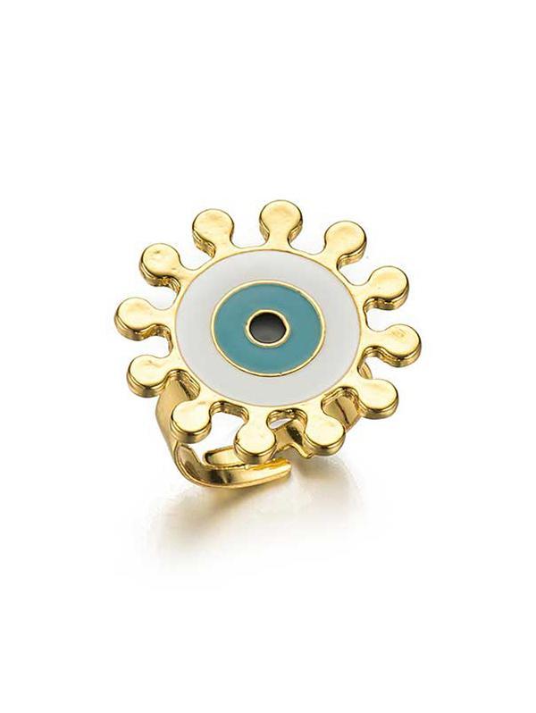 Eye Pattern Open Ring